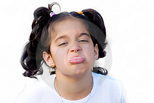 Girl Sticking Out Her Tongue Royalty Free Stock Images - Image: 9910079