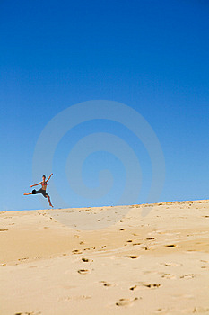 Young Woman Dancing On The Beach Royalty Free Stock Photos - Image: 9911048