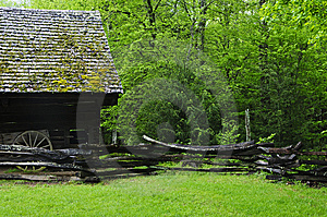 Barn In Forest Stock Images - Image: 9912384