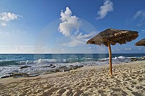 Caribbean Beach Palapa Royalty Free Stock Image - Image: 9912786