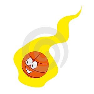 Basketball Emblem On White Background Stock Image - Image: 9914341