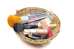 Cosmetic And Brushes Stock Images - Image: 9914814