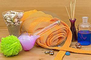Accessories For The Well Being Royalty Free Stock Image - Image: 9916376