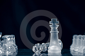 Checkmate Against Black Background Stock Photo - Image: 9917080