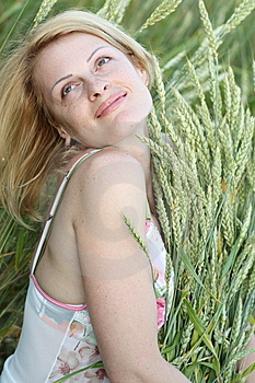 Beauty Woman On Field Royalty Free Stock Images - Image: 9917529