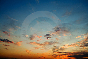 Bright Glowing Sunset Stock Photo - Image: 9918530