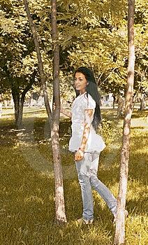 Girl Walking Royalty Free Stock Image - Image: 9919606