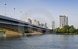 Bridge Over The Danube River Royalty Free Stock Images - Image: 9920279