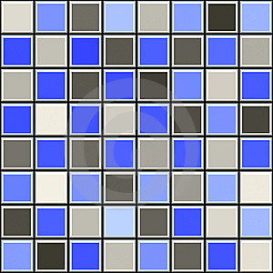 Blue And Grey Tile Pattern Stock Photo - Image: 9920560