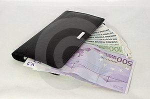 Locked Wallet With Money Royalty Free Stock Photo - Image: 9920865