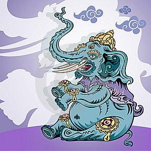A Brave Elephant King Royalty Free Stock Photos - Image: 9923838
