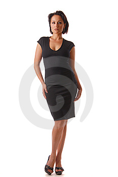 Lady In Black Royalty Free Stock Photography - Image: 9925637