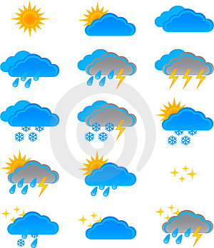 Weather Icons Stock Photos - Image: 9925983