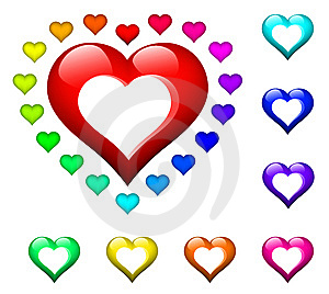 Kiddy Plastic Heart Rings Royalty Free Stock Images - Image: 9927279