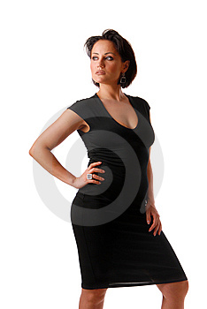 Lady In Black Royalty Free Stock Photography - Image: 9927397
