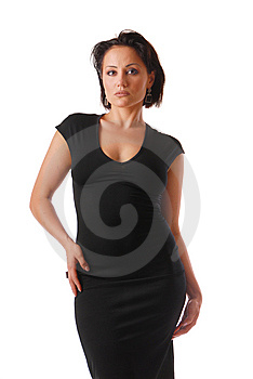 Lady In Black Stock Images - Image: 9927424