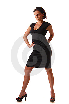 Lady In Black Royalty Free Stock Photos - Image: 9927488