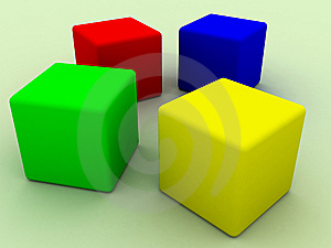 Four Cubes Royalty Free Stock Image - Image: 9928146