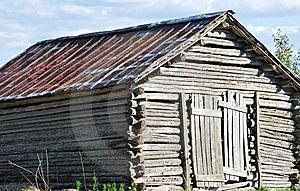 Nostalgic Log Hay Barn Royalty Free Stock Photography - Image: 9928607