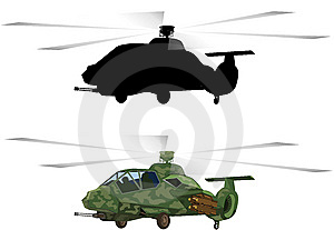 Armed Helicopters-material Stock Photos - Image: 9929053