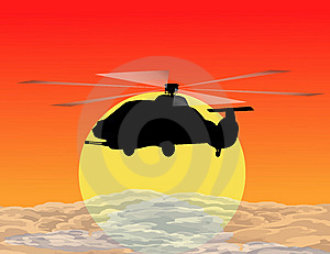 Armed Helicopter Royalty Free Stock Images - Image: 9929069