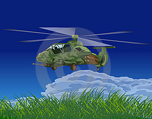 Armed Helicopters-illustration Royalty Free Stock Photography - Image: 9929097