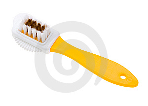 Close-up Brush For Suede Shoes Isolated On White Stock Photography - Image: 9929812