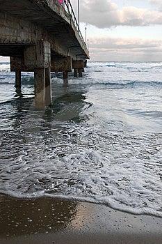 Concrete Old Bridge Over Sea Stock Images - Image: 9930954