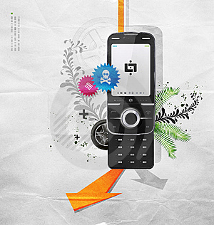 Cellular Telephone Stock Image - Image: 9932551