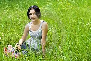 Portrait Of Beauty Girl Royalty Free Stock Photography - Image: 9932627