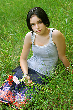 Portrait Of Beauty Girl Royalty Free Stock Images - Image: 9932669
