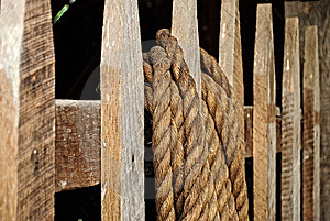 Rope On A Fence Royalty Free Stock Photography - Image: 9934017