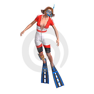 Female Diver With Snorkel Royalty Free Stock Photos - Image: 9934488