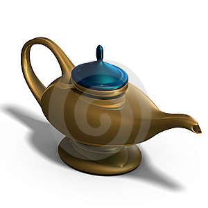 Aladdins Magical Lamp Stock Images - Image: 9934494