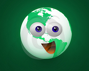 Happy World Icon Character Stock Photos - Image: 9934863
