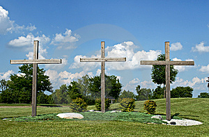 Three Crosses Royalty Free Stock Image - Image: 9939556