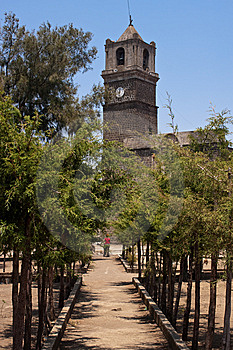 Sanctuary Near Cholula Stock Photography - Image: 9941542
