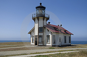 Lighthouse On The California Coastline Stock Image - Image: 9942631