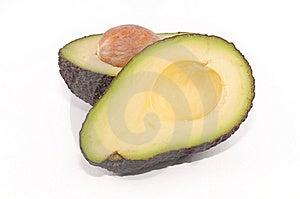 Avocado Cut In Half Royalty Free Stock Photo - Image: 9942675