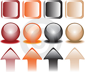 Coloured Snap Fasteners Stock Image - Image: 9943821