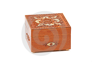 Red Wooden Casket Stock Image - Image: 9947991