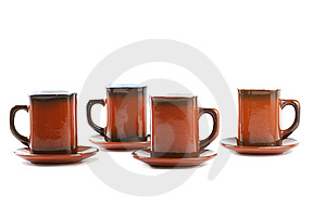 Brown Cups Royalty Free Stock Photography - Image: 9948397