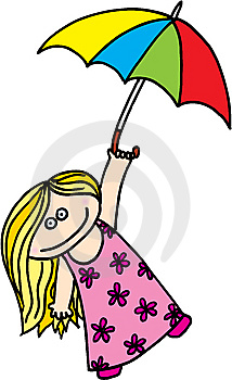 Girl With Umbrella Royalty Free Stock Photo - Image: 9949975