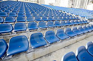 Blue Sector In Stadium Royalty Free Stock Photos - Image: 9951888
