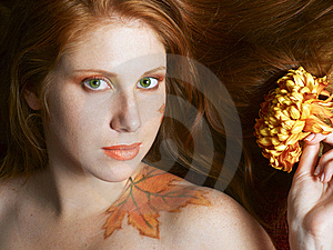 Autumn Style Face-art Royalty Free Stock Images - Image: 9952399