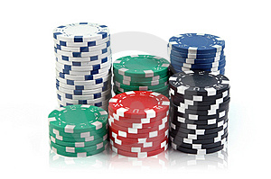 Poker Chips Royalty Free Stock Images - Image: 9954559