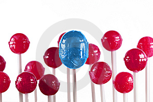 Blue And Pink Lollipops Stock Photography - Image: 9955122