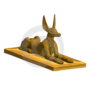 Jackal Statue Stock Photo - Image: 9955970