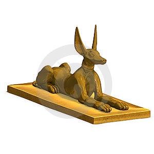 Jackal Statue Stock Photo - Image: 9955970