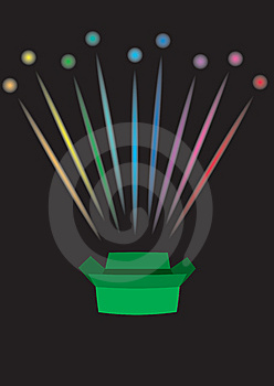 Firework From Box Stock Image - Image: 9956331